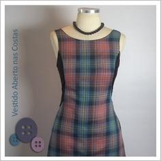 Vestido Aberto nas Costas (Xadrez) - Café Costura de R$252 por R$200