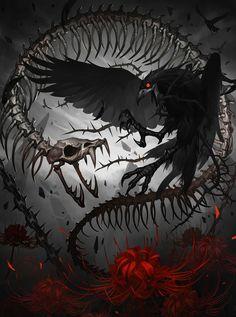 Animated :: Raven :: Snake :: Bones :: Crow