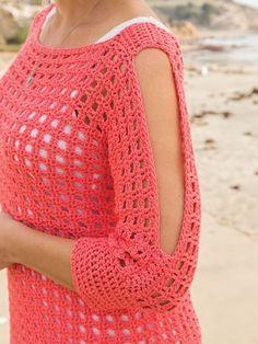 Annie's Crochet, Crochet Woman, Crochet Blouse, Crochet Summer, Crochet Stitches Patterns, Crochet Designs, Crochet Fashion, Crochet Clothes, Crocheting