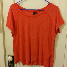 Coral Oversize SS Top by Full Tilt Excellent condition short sleeve oversized coral top by full tilt from tillys. Size small but because of oversized fit could potentially fit medium too. The front is slightly shorter than the back and there are little slits on either side. No defects. If you're worried about fit, feel free to ask for measurements but please don't leave me neutral / negative feedback because the item doesn't fit! =) Full Tilt Tops