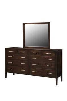 Amish Albany Square Triple Dresser Lots of storage space, contemporary appeal and Amish made quality built right in. Comes in choice of wood, finish and hardware. #DutchCrafters