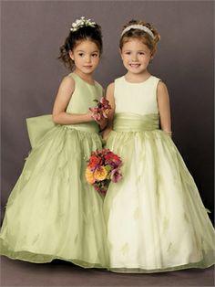 Ball Gown Tulle Satin with Sash Floor Length Flower Girl Dress FGD1114 www.dresseshouse.co.uk £52.0000