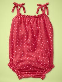 red swim suit - if it's a cotton fabric it would be a very comfy sexy kiddie romper