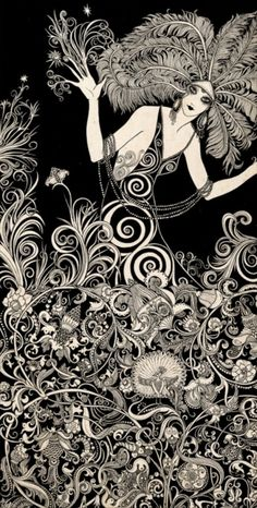 1920s illustration @Rebecca Feldman this nearly seems right up your alley! The detail is amazing!