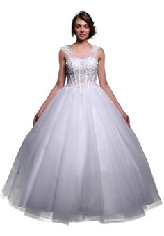Fancode Women's Applique Wedding Dress With Illusion Neck Fancode http://www.amazon.com/dp/B01CTUGP4S/ref=cm_sw_r_pi_dp_WDk7wb17267P5