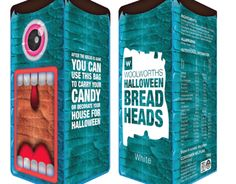 Bread Heads - Bread packaging for Halloween