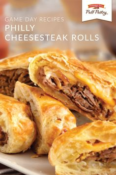 These Philly Cheesesteak Rolls are one easy weeknight dinner recipe that's sure to go fast. Start with the light and flaky texture of Pepperidge Farm® Puff Pastry Sheets. Then, add beef, American cheese, and onion to complete this family-favorite dish.