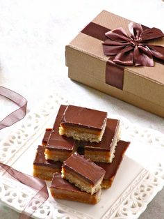 Chocolate Caramel Slice — the perfect holiday treat
