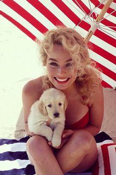 Margot Robbie smiles after shooting for Vanity Fair. Instagram -Cosmopolitan.com