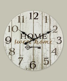 With Its Warm Wood Design And Homey Message, This Clock Will Keep Your  Household On Time While Adding A Sweet Decorative Touch.