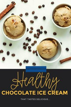 Who doesn't love chocolate ice cream? This processed sugar-free recipe uses Cacao Bliss and bananas for a smooth and creamy frozen treat! Healthy Chocolate, How To Make Chocolate, Smart Snacks, Healthy Snacks, Ice Cream Ingredients, Processed Sugar, Ice Cream Desserts, Chocolate Ice Cream, Sugar Free Recipes
