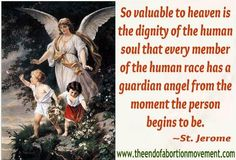 """""""How great the dignity of the soul,since each one has from his birth an angel commissioned to guard it."""" RETWEET!"""