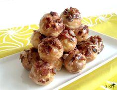 Maple Bacon Baked Doughnut Holes