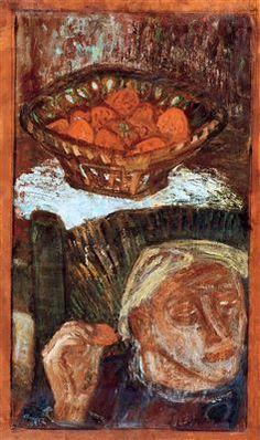 Imre Amos (Jewish-Hungarian:1907-1944) - Self portrait - Self-Portrait in the Room, 1937
