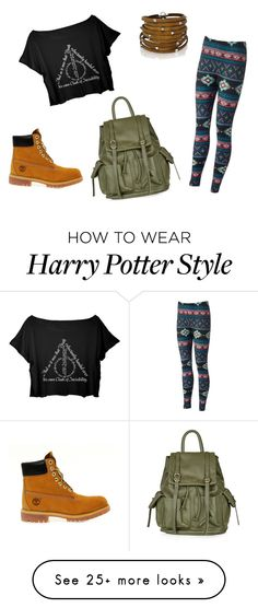 """Untitled #1"" by ejsoefker on Polyvore featuring Timberland, Topshop and Sif Jakobs Jewellery"