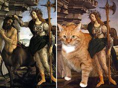 Son Cosas Mías! » Blog Archive » Decálogo: 10 grandes obras de arte mejoradas con un gato naranja