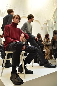 John Smedley Fall/Winter 2016/17 - London Collections: MEN - Male Fashion Trends Mens Fashion, Fashion Trends, Fall Winter, Men Casual, Hipster, Collections, London, Socks, Style