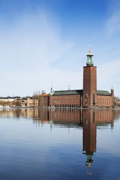 Stockholm City Hall is the seat of the city governement of Stockholm. It is one of the most well known buildings in Stockholm and was inaugerated in 1923. Stockholm City Hall is where the Nobel Prize banquette is held on the 10 th of december every year. Photo by Anna Andersson