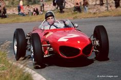 Richie Ginther, Ferrari 156, Zandvoort, Netherlands, 1961. Dinther was classified 5th. Wolfgang von Trips won the race.