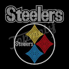 4e91efbca Hot sell Steelers Rhinestone Crystal Transfer Wholesale Hot Fix Designs For  Dresses Iron On Transfer
