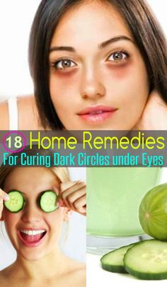 homeremedyshop:  18 Home Remedies for Curing Dark Circles under Eyes