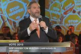 10 - 18 - click image to watch CPAC video - Tom Mulcair speaks to supporters at a campaign rally in Toronto.