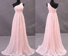 one shoulder prom dresses A Line prom dress long by sofitdress, $126.00
