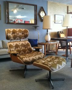 Eames Style Lounge Chair, Pendleton Wool Upholstery $1100, Portland OR