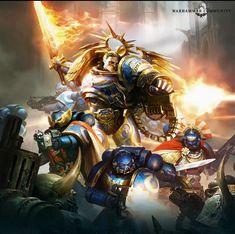 Warhammer 40k Art, Warhammer Models, Salamanders Space Marines, The Horus Heresy, Sci Fi Books, Dope Art, Art Model, Sci Fi Fantasy, Fantasy Artwork