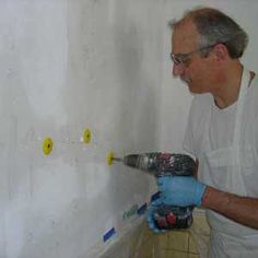 Repairing cracked plaster. I had no idea it was this easy! We need this for the walls and ceiling.  Here's a great video tutorial of the same technique: http://www.thisoldhouse.com/toh/video/0,,20210037,00.html