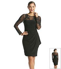 a272e53ce Xscape Embroidered Illusion Rhinestone Detail Dress Illusion Neckline Dress,  Dress Illustration, Elegant Homes,