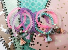 My handmade collection bracelets and notes. More informations http://m.fler.cz/shop/2-pointdesign