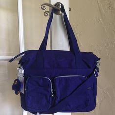 Kipling Sady Tote Shoulder Bag Crossbody Blueberry Pie TM5427 #Kipling #ShoulderBag