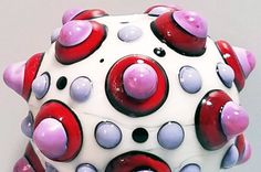 Pop Dot Big Ball Handmade Lampwork Bead by BeadygirlBeads on Etsy