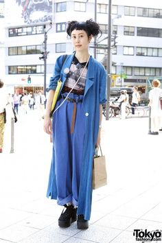 The one-&-only Yama from Tokyo Bopper wearing Vivienne Westwood, Belly Button & resale fashion on the street near LaForet Harajuku. Tokyo Fashion, Japan Street Fashion, Fashion Male, Korean Street Fashion, Harajuku Fashion, Fashion Outfits, Fashion Trends, Fashion Black, Fashion Lookbook