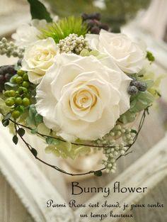 ★http://www.rakuten.co.jp/bunny-flower/ ★http://ameblo.jp/blog-charis/ プリザーブドフラワー アンティークアレンジ