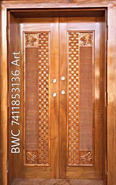 Home Door Design, Wooden Main Door Design, Latest Door Designs, Bed Furniture, Furniture Design, Wooden Doors, Pasta, Jewellery, Colors