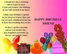 Happy Birthday Wishes to my Best Friend Poems Image