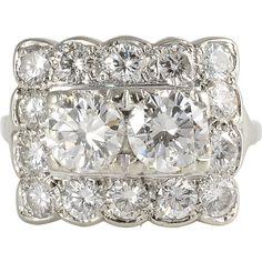 3.04 CTW Diamond Rectangular Ring
