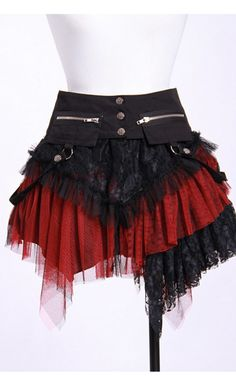 RQBL Gothic Pirate Skirt