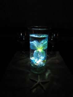 Ocean Blue Tiger Lily Wedding Centerpiece Kit by RoxyInspirations, $30.00