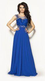 Długa elegancka sukienka z trenem Model :PW-2447