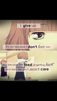 No one cares. Message Quotes, True Quotes, Words Quotes, Funny Quotes, Sayings, Sad Anime Quotes, Manga Quotes, Meaningful Quotes, Inspirational Quotes