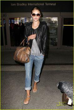 Rosie Huntington-Whiteley + Isabel Marant Keni Leather Jacket