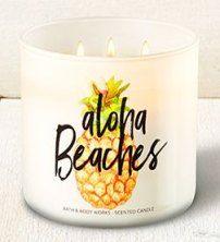 Aloha Beaches - Aloha Kiwi Passionfruit Candle - Bath And Body Works. B-Day gift Bath Candles, 3 Wick Candles, Scented Candles, Candle Jars, Candle Gifts, Bath N Body Works, Bath And Body, Candles Tumblr, Kiwi