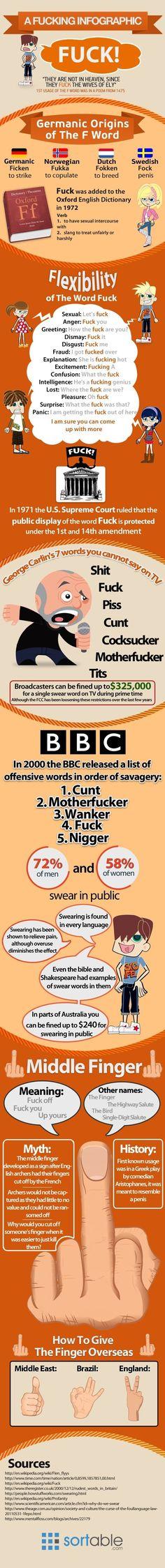 A F**king Infographic - funny pictures - funny photos - funny images - funny pics - funny quotes - funny animals   Read More Funny:    http://wdb.es/?utm_campaign=wdb.esutm_medium=pinterestutm_source=pinterst-descriptionutm_content=utm_term=