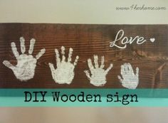diy handprint sign for Father's Day
