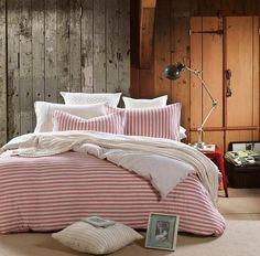 Cotton Duvet Set with Stripes