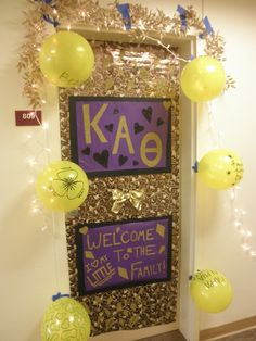 Welcome New Thetas! Great Bid Day Idea!