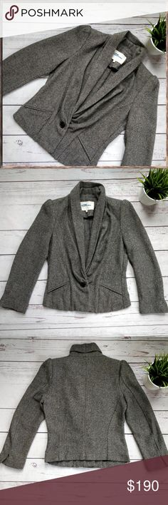 """ÉTOILE ISABEL MARANT Herringbone Blazer Jacket, 2 This is a beautiful Isabel Marant Étoile jacket in size 2. Inner tag marked and pilling to the shoulder pads (inside, not visible); otherwise in perfect condition. Lovely folded front design. Measures approximately 18"""" across chest and 19 1/2"""" in length.  If you have any questions, please let me know! Isabel Marant Jackets & Coats Blazers"""